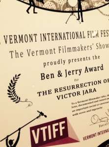 Vermont International Film Foundation to a filmmaker in Vermont who shines a light on an important social issue.